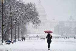 طوفان و برف در آمریکا