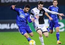 صادق محرمی تنها غایب تیم فوتبال دینامو زاگرب در لیگ اروپا