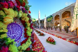 Imam Ali's Shrine decorated with flowers