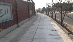 پیاده رو سازی و مناسب سازی حاشیه بزرگراه شهید دوران