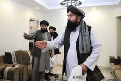 نشست خبری هیات صلح طالبان در تهران
