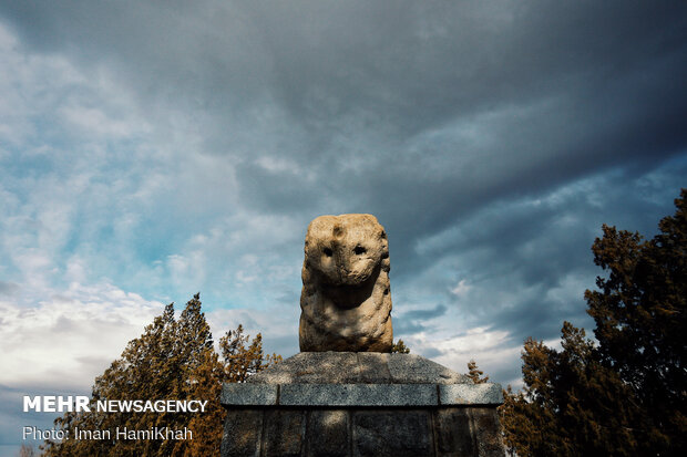 Shir Sangi, Median stone lion, in Hamedan