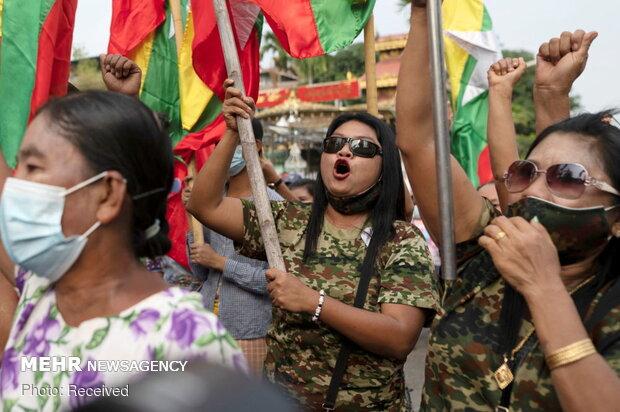 Myanmar'da darbe karşıtı protestolar 2. gününde devam etti