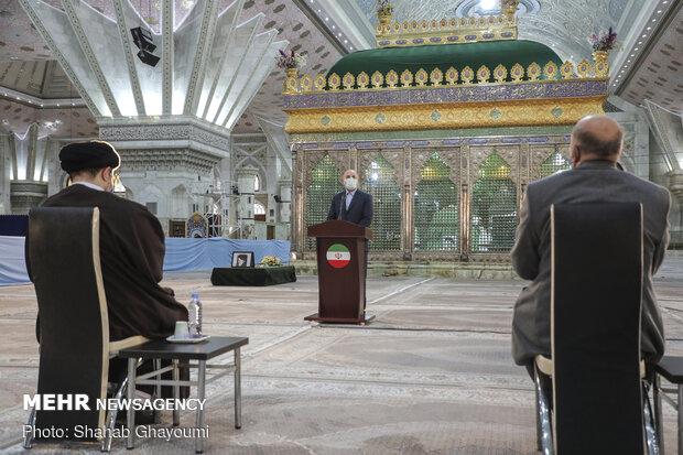 مراسم تجدید میثاق هیأت رئیسه مجلس یازدهم با آرمانهای امام (ره)