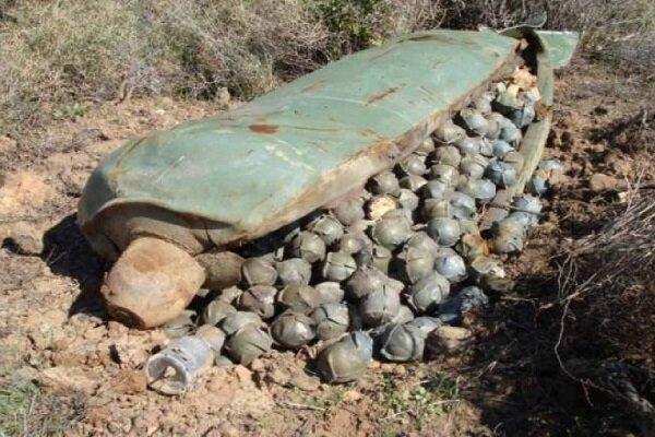 قنابل العدوان السعودي العنقودية صناعتها أمريكية وبريطانية