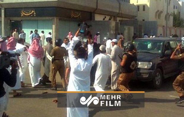 سعودی عرب میں بے روزگاری کے فقر کے خلاف مظاہرہ
