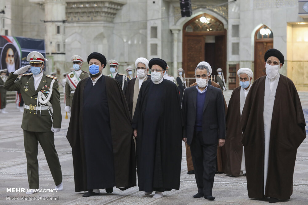 تجدید میثاق رئیس قوه قضاییه و مسئولان قضایی با آرمانهای امام خمینی (ره)