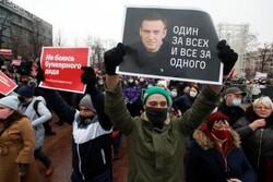 پلیس معترضان به حکم زندان «ناوالنی» را بازداشت کرد