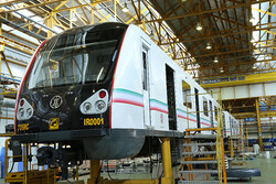 First home-made metro carriage unveiled by Pres. Rouhani