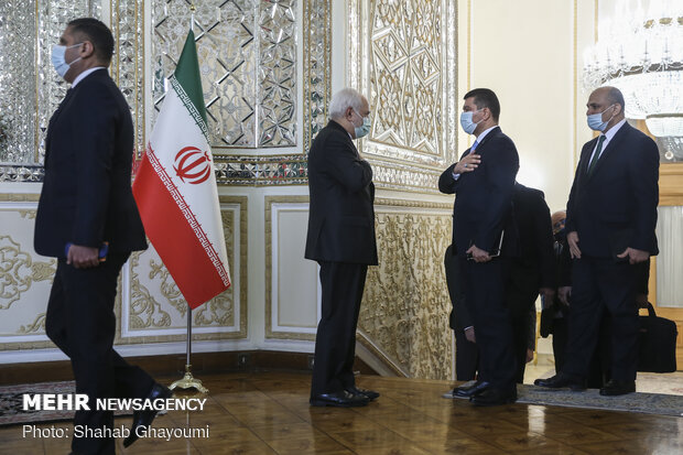 Meeting of Iranian, Iragi Foreign Ministers in Tehran