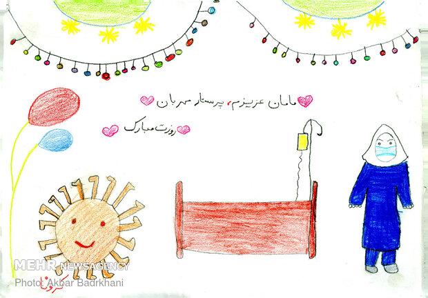 نقاشی برای مادران قهرمان