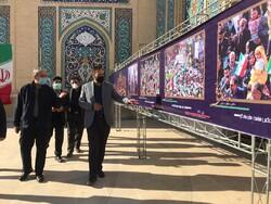 نمایشگاه عکاسان خبری فارس در حرم مطهر حضرت شاهچراغ(ع) افتتاح شد
