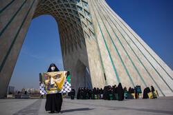 İranlı öğrencilerden Şehit Süleymani için muhteşem tablo