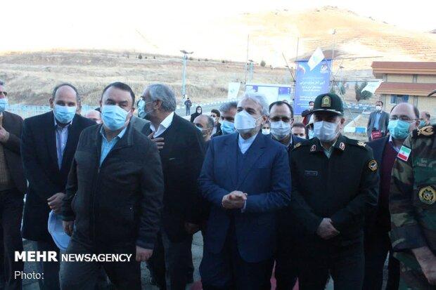 افتتاح پروژه های عمرانی کردستان با حضور محمد باقر نوبخت معاون ریاست جمهور