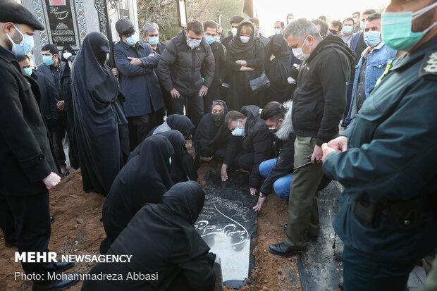 Ali Ansarian's burial