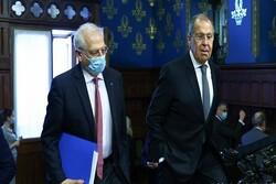 بورل: پیشنهاد تحریم جدیدی علیه روسیه مطرح نیست/ لاوروف: آماده همکاری با اروپا برای احیای برجام هستیم