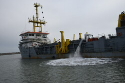 Dredging operation in Astara port