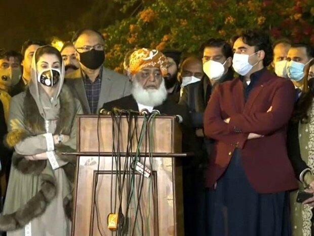 پاکستان میں پی ڈی ایم اتحاد کا 26 مارچ کو لانگ مارچ کرنے کا اعلان