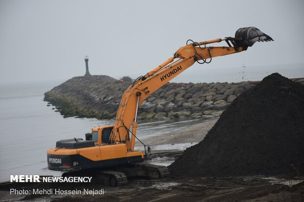 Dredging operation in Astara port