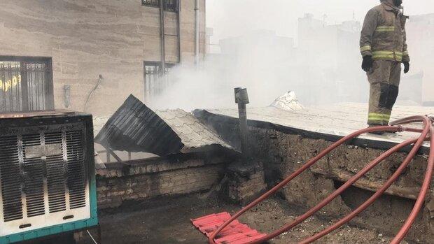 آتش سوزی در یک کارگاه صنعتی/ آتش تمام کارگاه را فراگرفت