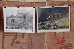 نمایشگاه عکس شهدا در یزد برپا شد/اجرای نمایش خیابانی «ستون»