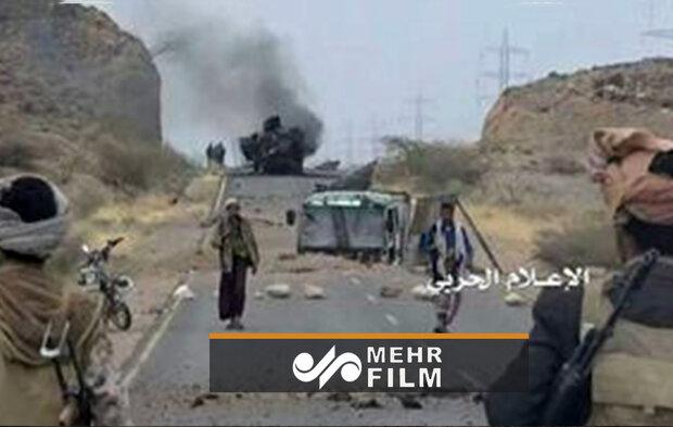 Yemen'de Suudi koalisyona ait araç böyle imha edildi