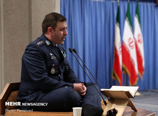 دیدار فرماندهان نیروی هوایی و پدافند هوایی ارتش با رهبر معظم انقلاب اسلامی
