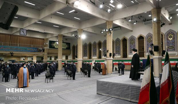 İslam Devrimi Lideri'nin bugünkü görüşmesinden kareler
