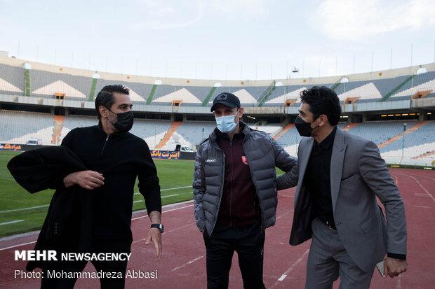 دیدار تیم های فوتبال پرسپولیس تهران و مس رفسنجان