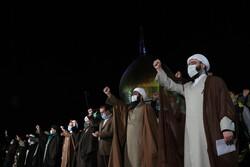 جشن پیروزی انقلاب اسلامی در کنار خانواده شهدای فاطمیون