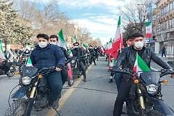 راهپیمایی نمادین خودرویی و موتوری در ارومیه برگزار شد