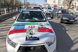 راهپیمایی موتوری و خودرویی ۲۲ بهمن در تبریز