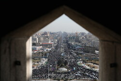 Tehran's iconic Azadi Square during rallies