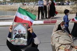 مردم جنوب کرمان در جشن پیروزی انقلاب شرکت کردند