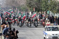 تہران میں 22 بہمن کی مناسبت سے موٹر سائیکلوں پر مشتمل ریلی کا اہتمام