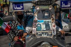 راهپیمایی خودرویی یوم الله ۲۲ بهمن در ساری