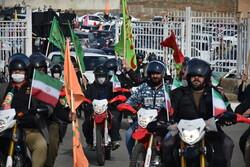راهپیمایی موتوری و خودرویی مردم سنندج در گرامیداشت ۲۲ بهمن