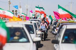راهپیمایی خودرویی ۲۲ بهمن مردم سیرجان