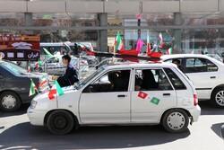 راهپیمایی باشکوه موتوری و خودرویی در سبزوار برگزار  شد