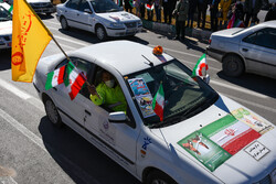 راهپیمایی خودرویی ۲۲ بهمن در طبس