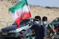 برگزاری راهپیمایی ۲۲ بهمن بهصورت خودرویی در شهرستان سیریک