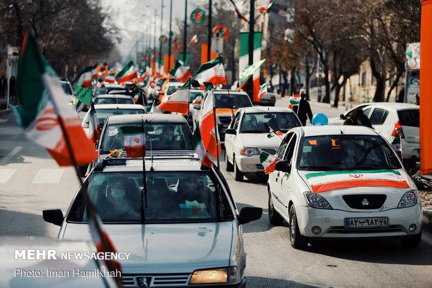 راهپیمایی یوم الله ۲۲ بهمن در همدان