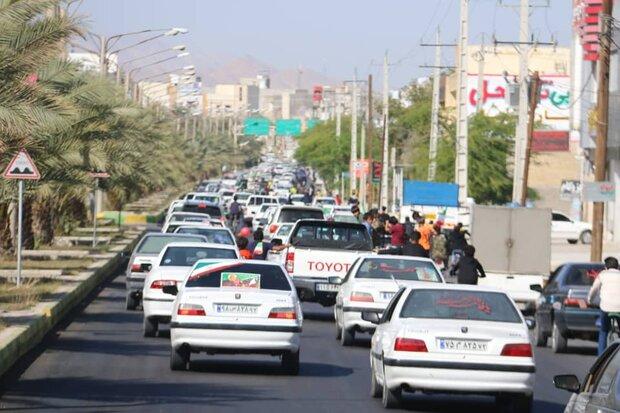 راهپیمایی خودرویی ۲۲ بهمن در استان تهران برگزار شد