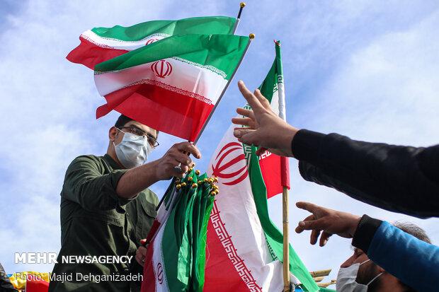 راهپیمایی موتوری 22 بهمن در یزد