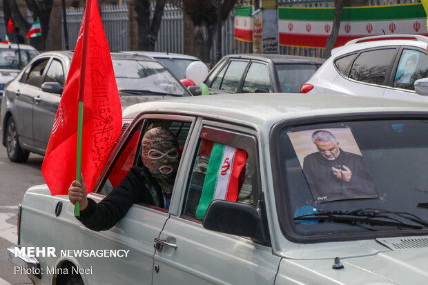 برگزاری راهپیمایی ۲۲ بهمن بهصورت خودرویی و موتوری در تبریز