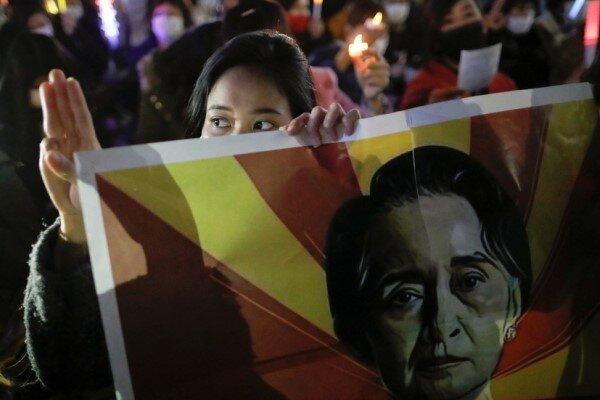 میانمارمیں پولیس کی فائرنگ سے دو مظاہرین ہلاک