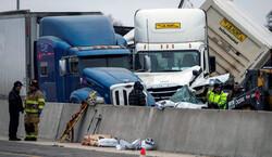امریکی ریاست کیلیفورنیا میں ٹریفک حادثے میں 15 افراد ہلاک