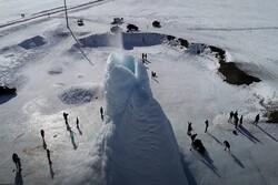 آتشفشان یخی در قزاقستان را تماشا کنید