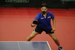 نیما عالمیان از تورنمنت تنیس روی میز قطر حذف شد