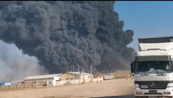 تصاویر جدید از آتش سوزی گمرک اسلام قلعه